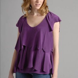 Karen Zambos silk tiered top